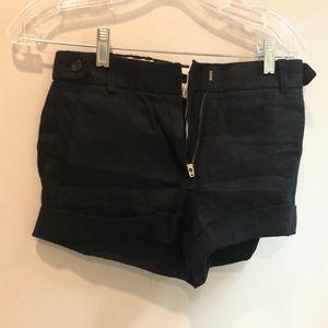 J.crew factory  Black Linen shorts size 00